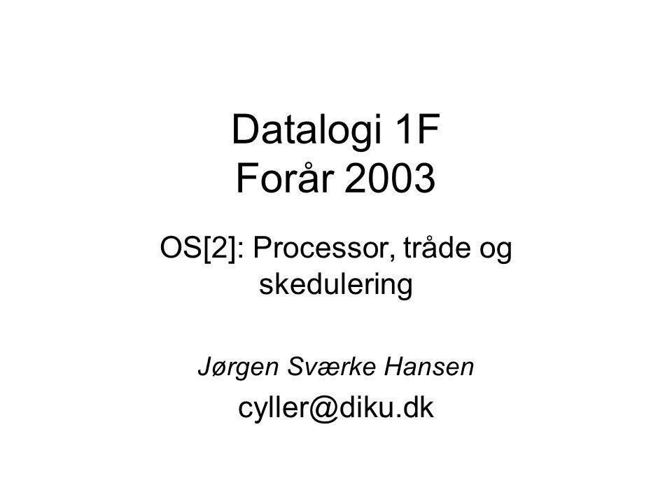 OS[2]: Processor, tråde og skedulering